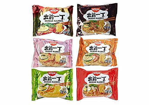 30 x 100g NISSIN Instant Nudelsuppen - 6 Leckere Sorten - NISSIN Chicken Beef Duck Sesam Schrimps Spicy