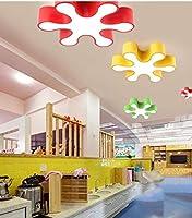 PLLP 装飾的なシャンデリア、シーリングランプ、50 Cmの漫画の幼稚園のシーリングランプ、創造的なスノーフレーク子供用のシーリングランプ、ルームランプの遊び場の保育園用ランプの赤、白のライト,赤,無段階調光