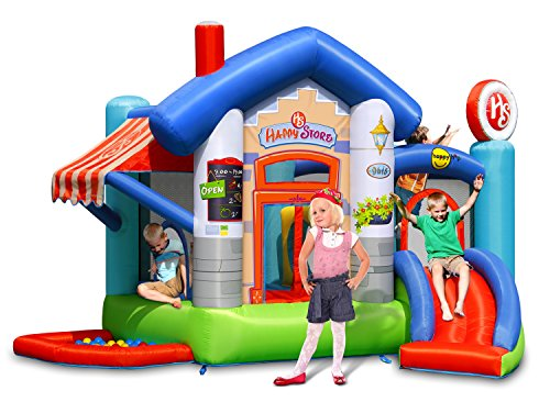 Happy Store 13ft Inflatable Bouncy Castle with Slide