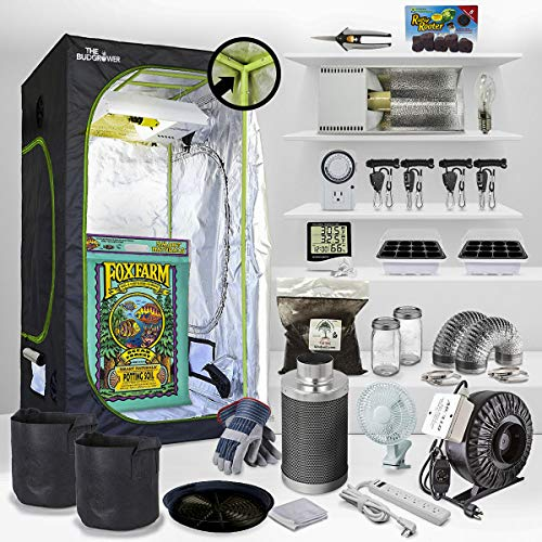 The Bud Grower Complete Indoor Grow Kit with Fan, Soil, 24'x24'x60' Hut - Everything You Need to Grow Plants Inside