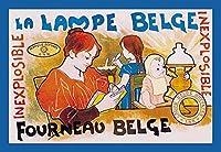 La Lampe Belge ファインアートキャンバスプリント (20インチx30インチ)