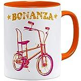 OM3® Bonanza Fahrrad Tasse | | Keramik Becher | 11oz 325ml | Beidseitig Bedruckt | Orange