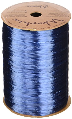 Berwick Offray Royal Blue Pearlized Raffia Ribbon, 1/4'' Wide, 100 Yards