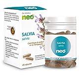 NEO   Extracto Seco de Hojas de Salvia 200 mg   45 Cápsulas Naturales   Ayuda a Reducir Síntomas de la Menopausia   Regulador Hormonal   Libre de Alérgenos y GMO   Tomar de 1 a 2 Cápsulas a Día
