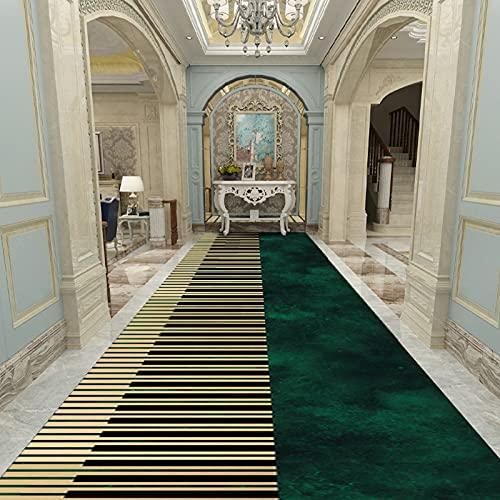 Tapis de coureurs de passage modernes pour les escaliers de couloir, longues tapis domestiques Hôtel de couloir étroits tapis de plancher lavable antidérapant lavable, largeur 60cm 80cm 100cm 120cm