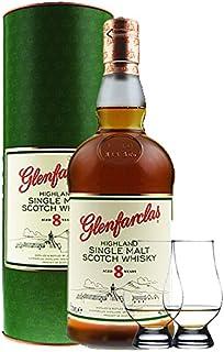 Glenfarclas 8 Jahre Single Malt Whisky 0,7 Liter 2 Glencairn Gläser