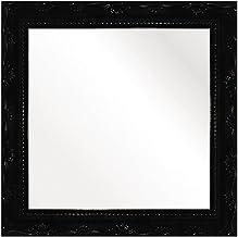 Espelho Brilho Rococo 26X26cm Kapos Preta