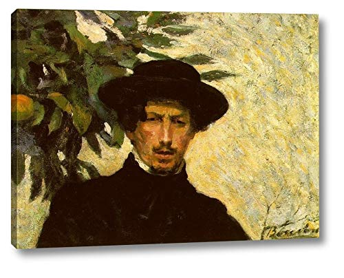 """Self Portrait Also Known as As a Young Man by Umberto Boccioni - 15"""" x 20"""" Gallery Wrap Canvas Art Print - Ready to Hang"""