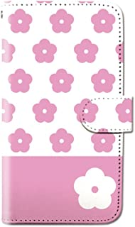 CANCER by CREE 手帳型 ケース FREETEL SAMURAI MIYABI カメリア フラワー モノグラム スマホ カバー dy001-00009-04 FREETEL miyabi(雅):M