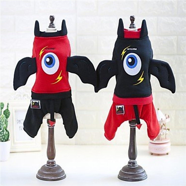 nuevo listado Y-Hui - Sudadera con capucha para perro, para disfraz, disfraz, disfraz, disfraz, Halloween, Navidad, dibujos animados, Color rojo y negro  mejor servicio