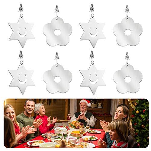 Huahao Tischdecke Schwere Tischdeckenbeschwerer Outdoor 8 Pcs Tischtuch Schwere Tischdecke Gewichte Blume Tischdeckenbeschwerer Klammer für Drinnen Draußen Garten Picknicks Party Küche Restaurant