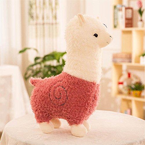 Zinsale Linda Alpaca Juguete suave Muñeca de oveja Almohada de peluche de felpa Peluches (Rosa, 28cm)