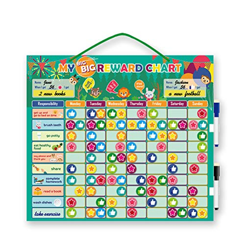 Leikance Belohnungstafel für Kinder, magnetisch, personalisierbar, Tages-Routine-Kalender, Spielzeug, Verhaltensbelohnung, Geschenk