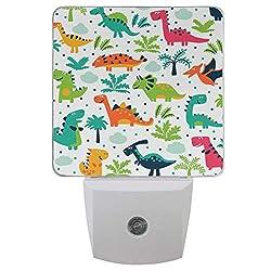 7. Vdsrup Cute Little Dinosaur Plug-in LED Night Light