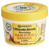Garnier Ultimate Blends Hair Food Banana 3-in-1, Nourishing Hair Mask, Conditioning Treatment,...