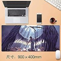 拡張大型アニメ厚みのゲーミングマウスパッド日本のアニメゲームデスクマットプロフェッショナルEsportsもゲームマウスパッドノンスリップ耐水性ラバーベース布コンピューターのマウスマット90 * 40センチメートルアニメギフト (サイズ : Thickness: 4mm)