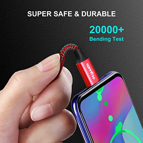 etguuds USB C Kabel Lang, 3m 2 Stück Langlebige Nylon USB Typ C Ladekabel, 3A Schnellladekabel für Samsung Galaxy S10 S10 Lite S10e S9 S8 +, A40 A41 A50 A51 A70 A71 A20e, Sony, LG, Xiaomi