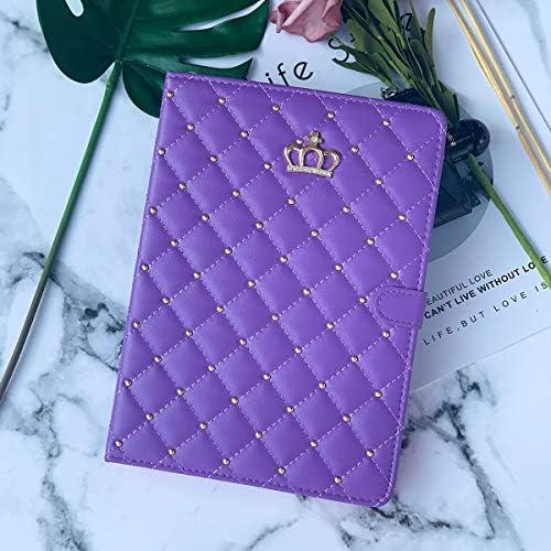 Topwin Crown Design Case for iPad 9 7 2018 2017 iPad Air 2 iPad Air Diamond Cute Elegant PU product image
