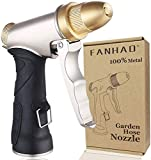 FANHAO Garden Hose Nozzle, 100% Heavy Duty Metal Spray Nozzle High Pressure Water Nozzle with 4...