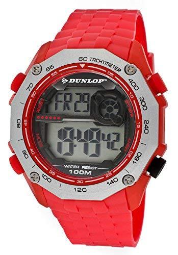 Dunlop Reloj Digital para Unisex Adultos de Cuarzo con Correa en Caucho DUN209G07
