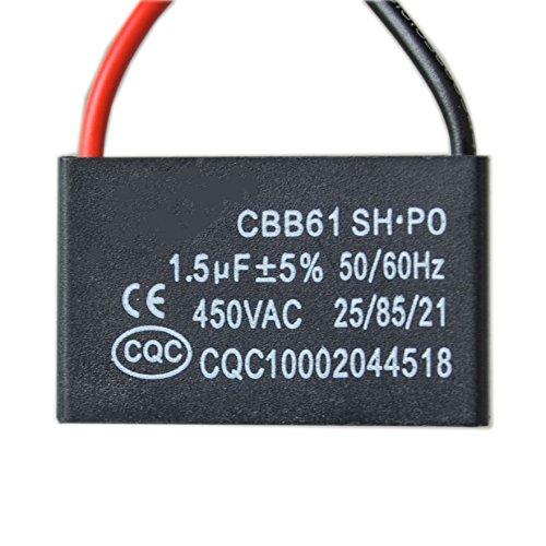 CBB61 condensador de arranque del ventilador 1.5UF aire acondicionado del ventilador del motor del humo del aceite aire acondicionado