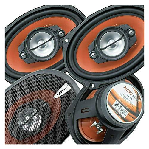 Audiobank AB790 - Altavoces coaxiales estéreo de 4 vías (6 x 9, 1000 W, 4 vías, cono de inyección, rango medio, tweeter de cúpula...