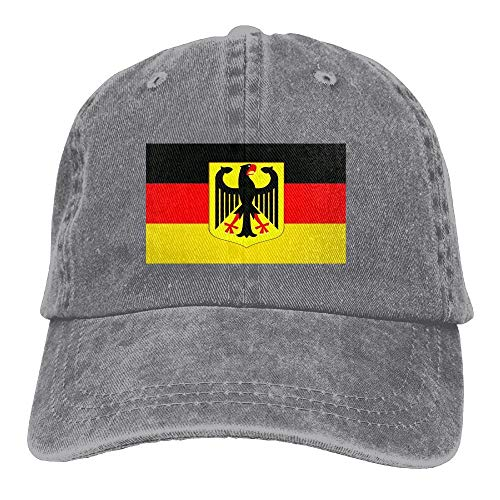 DD Decorative Deutschland Germany Unisex Denim Baseball Cap Adjustable Strap Low Profile Plain Hats Outdoor Casquette Snapback Hats Black