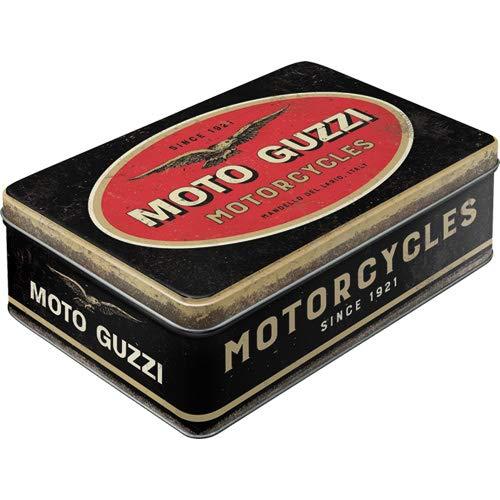Nostalgic-Art Retro Vorratsdose Flach Guzzi-Logo Motorcycles-Idea Regalo per Gli Appassionati di Moto, Scatola di Latta con Coperchio, Design Vintage, 2.5 L