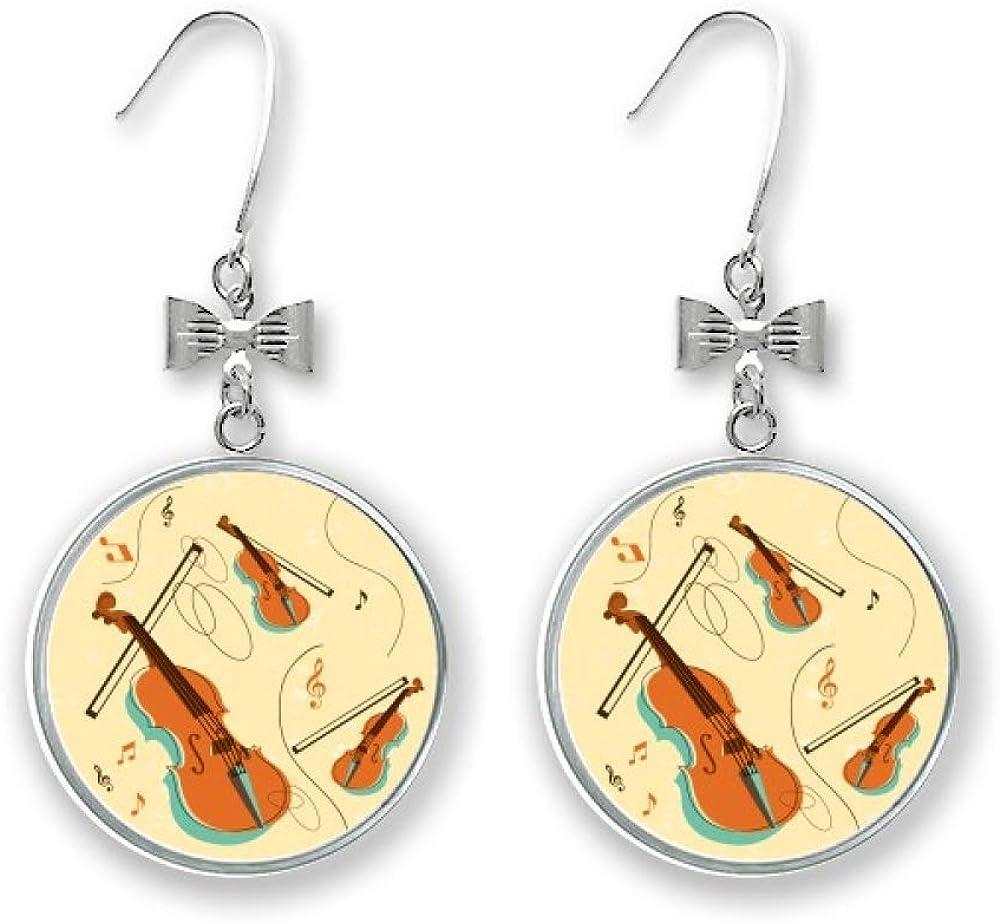 Violin Music Cheap Instruments Pattern Bow High quality Pierced Earrings Stud Drop