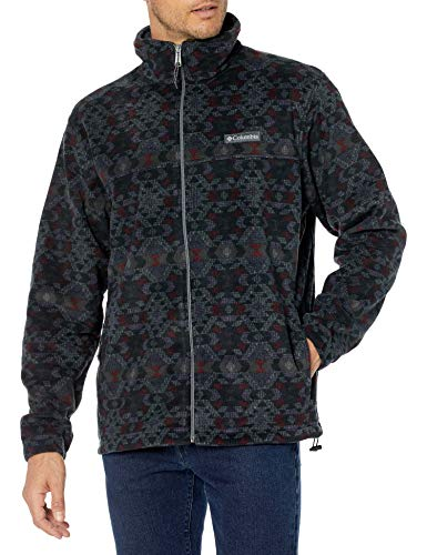 Columbia Men's Steens Mountain Jacket, City Grey Blanket Print, Large
