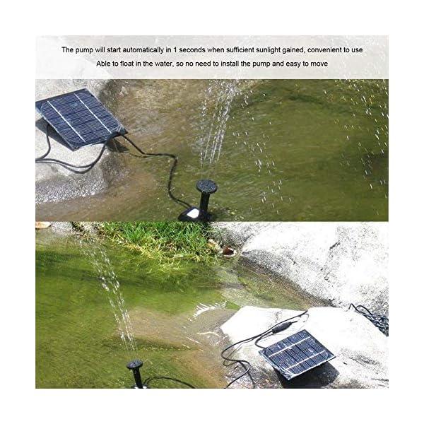 Wallfire Bomba de Agua de la Fuente Flotante de la energía Solar para el Acuario de la Piscina del Estanque del jardín
