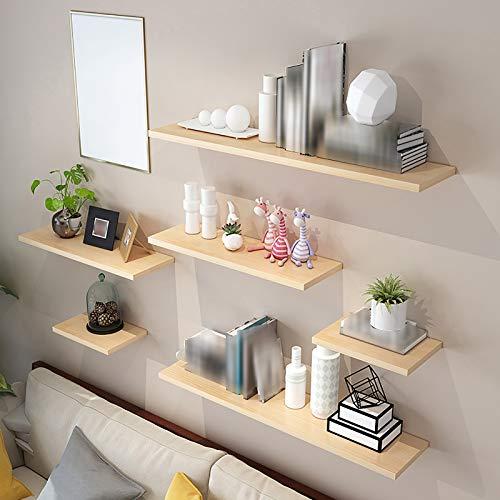 """(17,7""""x 4,7"""" hellgelb) Schwimmendes Wandregal, größerer Stauraum, geeignet für Küche, Bartheke, Schlafzimmer und Wohnzimmer usw."""
