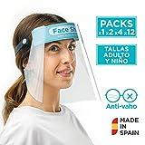 Pantalla Protecció Facial *Sonaprotec - Protector Facial Antibaf. Talla Nens i Adults. Visera Protectora per a la Cara *Face *Shield Fabricades a Espanya - Talla Mitjana - *Pack 1