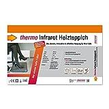 Thermo Infrarot Heizteppich, 390x590mm, 85W, mit LED-Fußschalter, IPX4 - 9