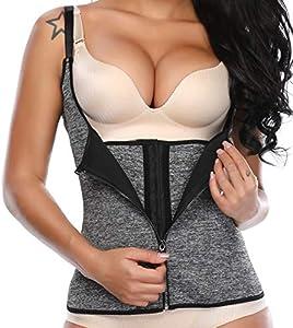 SLIMBELLE® Mujer Camiseta Sauna Chaleco Neopreno Adelgazant Corsé de Entrenamiento Faja Reductora de Sudoración para Deporte Fitness