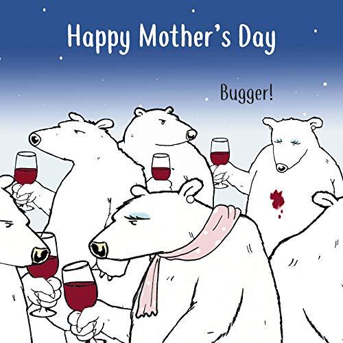 Twizler - Tarjeta divertida para el Día de la Madre con vino tinto - Divertida tarjeta madre regalos para ella - Tarjeta divertida para el Día de la Madre - Tarjeta para el Día de la Madre