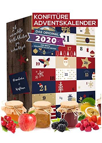 Konfitüren Adventskalender Marmelade 2020 I Fruchtaufstrich Weihnachtskalender mit 24 delikaten & abwechslungsreichen Portionspackungen I Geschenkset in der Weihnachtszeit Adventszeit