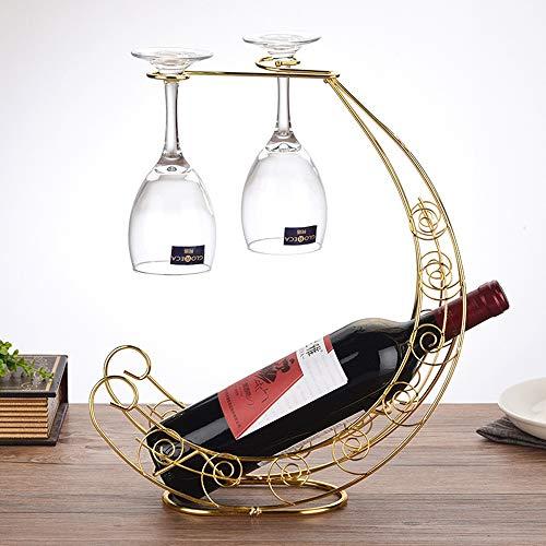 Slivy Estante de Vino con Forma de Media Luna Europea con So