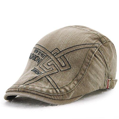 Sombrero Primavera Nuevas Gorras Casuales Hombres de Mediana Edad Bordado de algodón Sombrero de Pintor Boina Europea y Americana