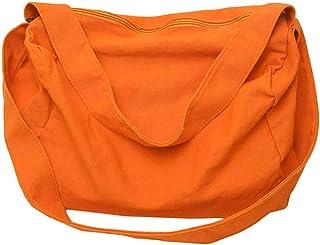 kingko Rucksack Sporttasche Reisetasche Übergroßer Reisetaschen, Wochenend Tasche, Seesack, Vintage Handtasche, Segeltuch Lederbesatz Unisex Schultertasche