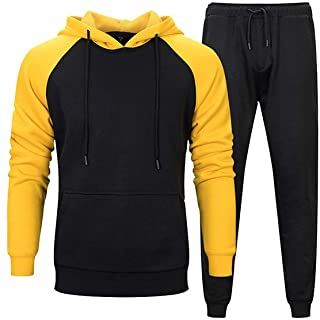 Men's Casual Tracksuit Sweat Suit Running Jogging Athletic Sports Shirts and Pants Set