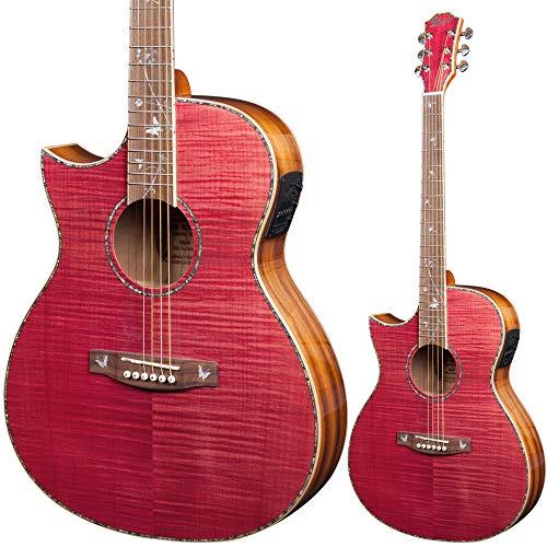 Lindo Guitarra electroacústica de diente de león ORG-SL para zurdos con micrófono de mezcla BS5M y sintonizador LCD piezoeléctrico y bolsa acolchada