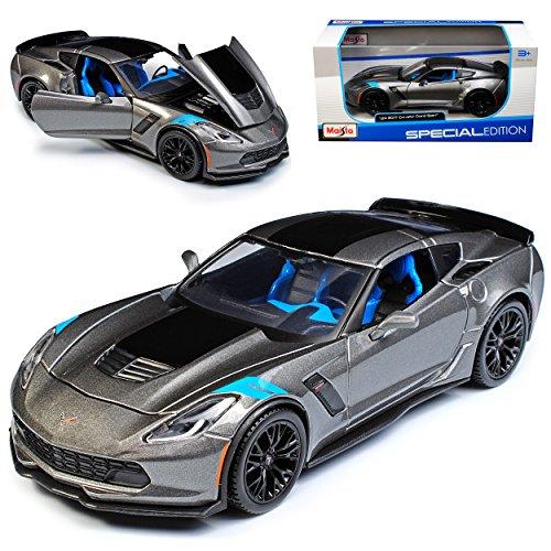 Maisto Chevrolet Corvette C7 Z06 Grand Sport Coupe Grau Ab 2013 Version Ab 2017 1/24 Modell Auto