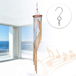 DEWEL Wind Chimes Amazing Grace Wind Chime with 18 Aluminum Alloy Tubes 36'' Large Wind Chimes with Free 1 Pack Hooks Home Decoration for Indoor Outdoor Patio Lawn Garden Balcony Porch Backyard