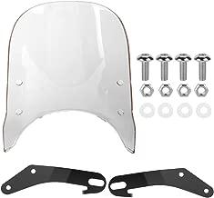 EBTOOLS Parabrisas y deflectores de viento Transparente deflector de aire universal de parabrisas modificado para motocicleta