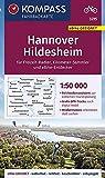 KOMPASS Fahrradkarte Hannover, Hildesheim 1:50.000, FK 3215: reiß- und wetterfest (KOMPASS-Fahrradkarten Deutschland, Band 3215)