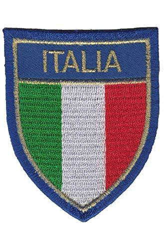 Aufnäher mit italienischer Flagge, Wappen, bestickt, zum Aufbügeln, Souvenir, Zubehör