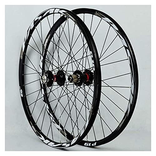 YBNB Ruedas De Ciclismo para 26 27,5 29 Pulgadas Juego De Ruedas De Bicicleta De Montaña Bicicleta De Doble Pared 32H Válvula Americana 7-11 Velocidad