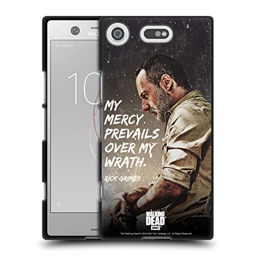 Head Case Designs Licenciado Oficialmente AMC The Walking Dead La Misericordia prevalece Legado de Rick Grimes Funda de Gel Negro Compatible con Sony Xperia XZ1 Compact