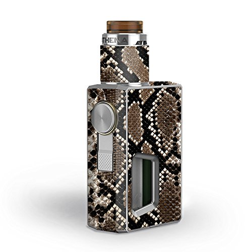 Skin Decal Vinyl Wrap for GeekVape Athena Squonk Kit Vape Kit skins stickers cover / Snakeskin Rattle Python Skin